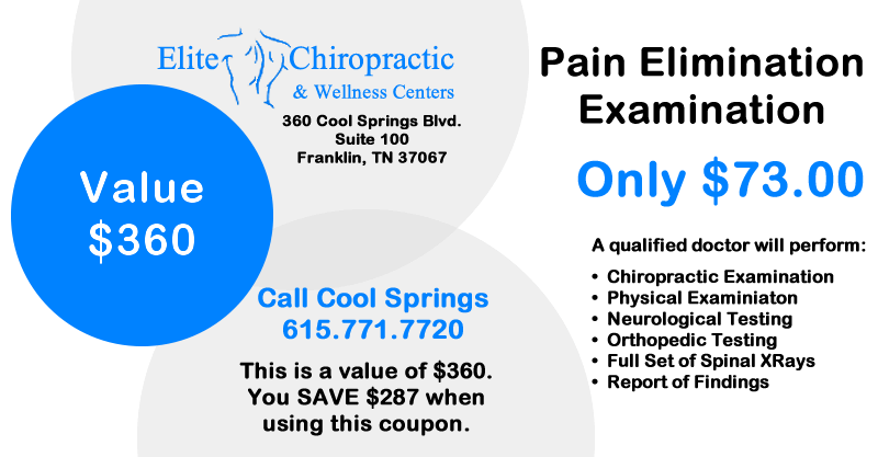 Coupon Chiropractor Neck Pain Relief Examination